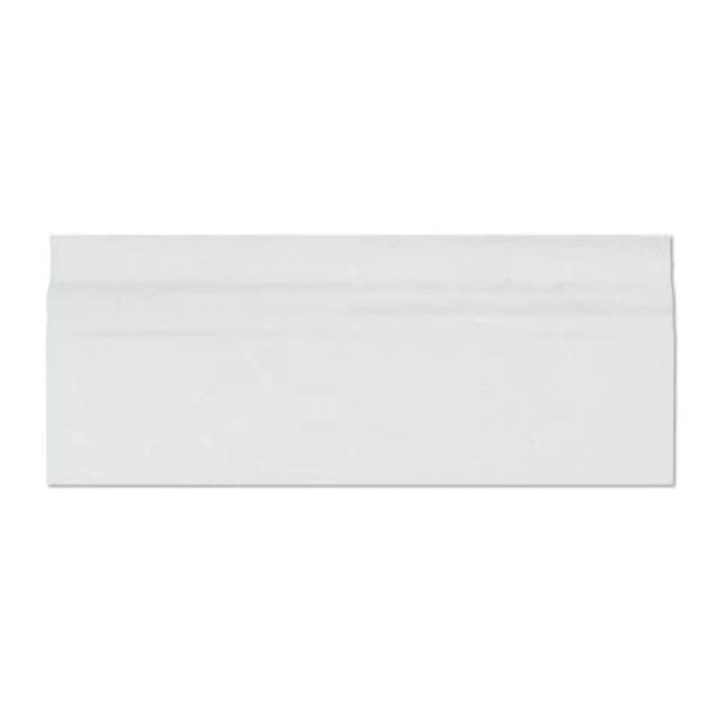 thassos white marble 4 3 4x12 honed baseboard molding