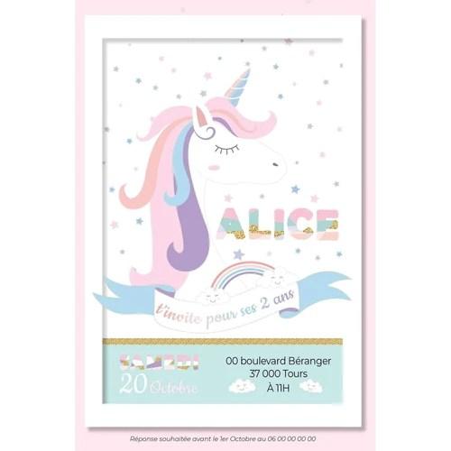 invitation anniversaire licorne invitation anniversaire fille invitation licorne carte invitation anniversaire princesse