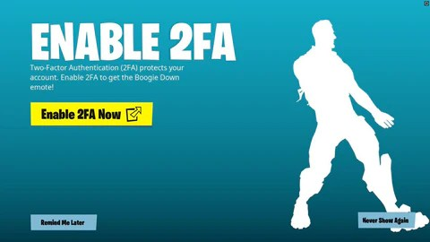fortnite two after authentication