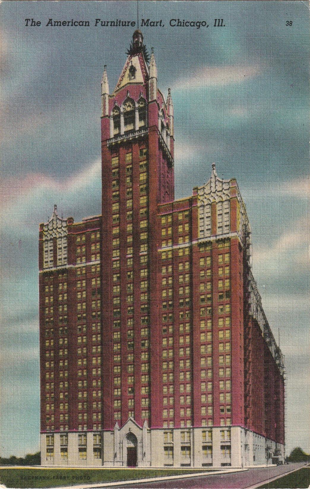 american furniture mart chicago postcard