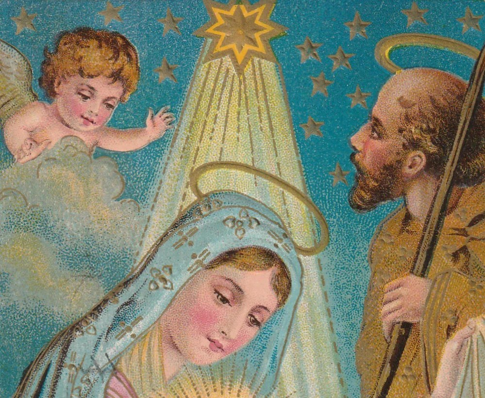 Jesus Mary And Joseph Nativity Postcard C 1910s Ephemera Obscura Collection