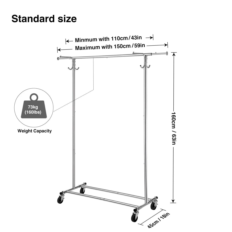 greenstell extendable hanging rail