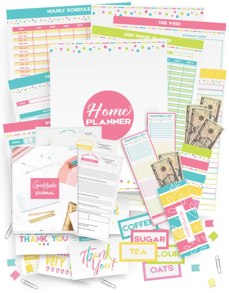 printable home management planner you can create right at home