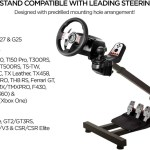 Racing Steering Wheel Stand Gaming Simulator Cockpit With Gear Shifter Sofia Imports