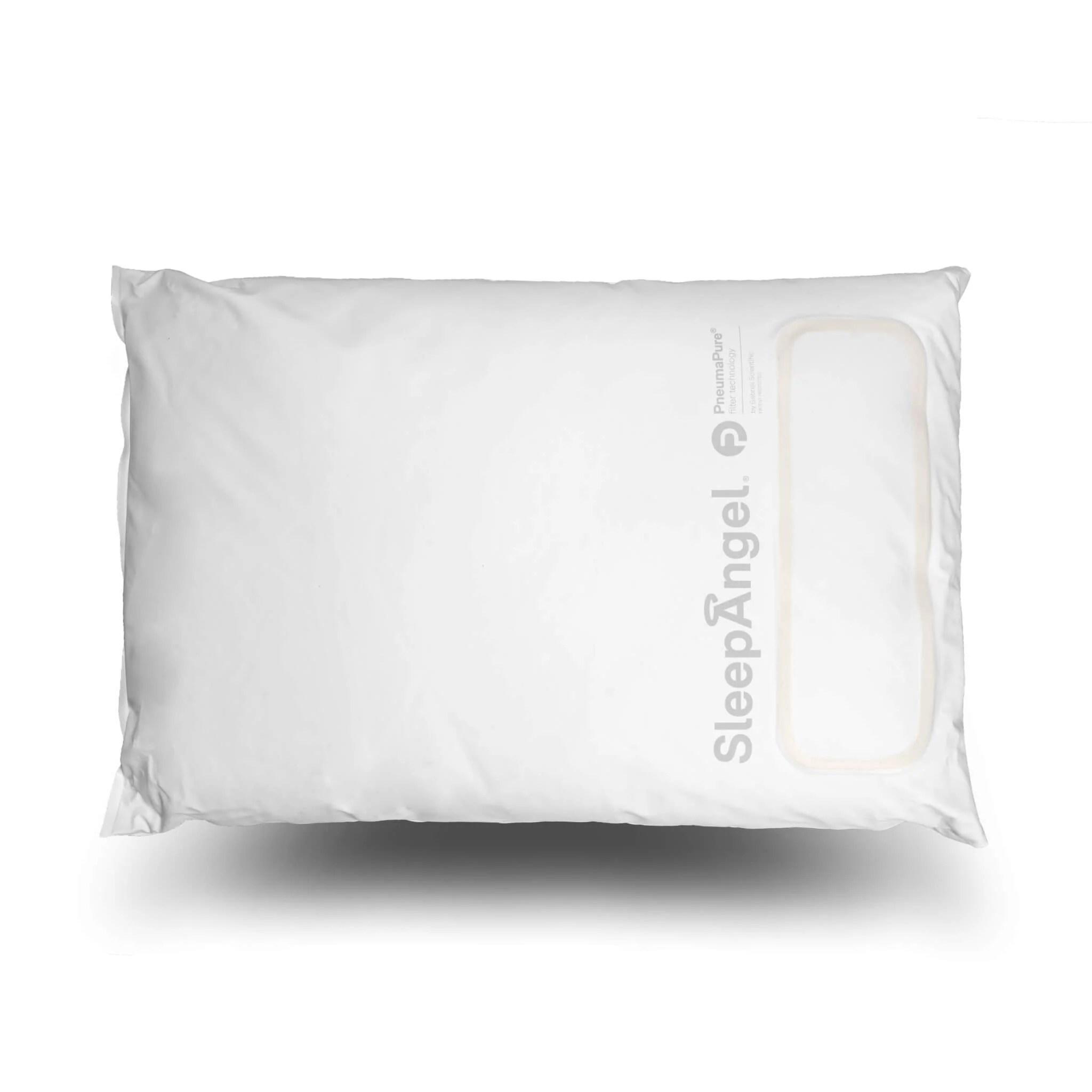 sleepangel microfiber pillow with pneumapure filter antibacterial antiallergic antipathogenic antiviral easy maintenance