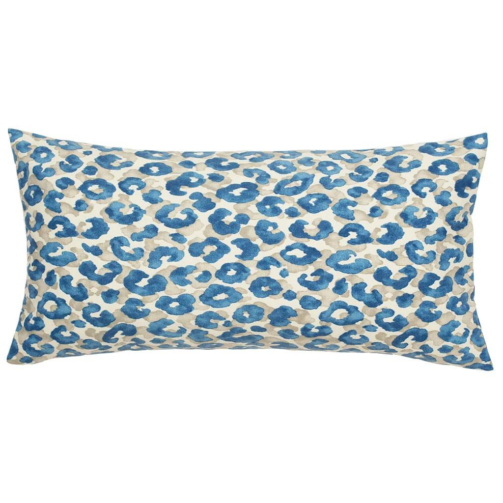 the sapphire blue leopard throw pillow