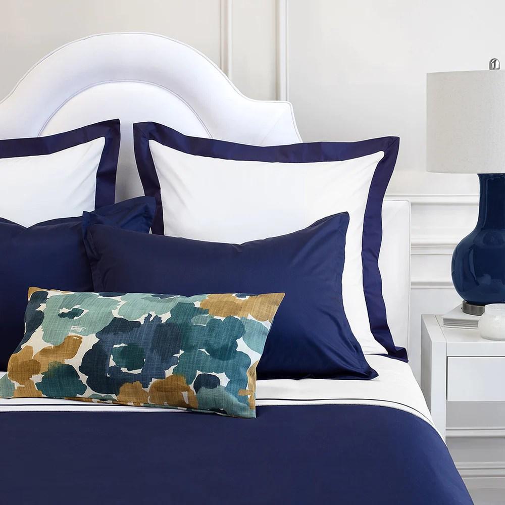 dark blue pillow shams online