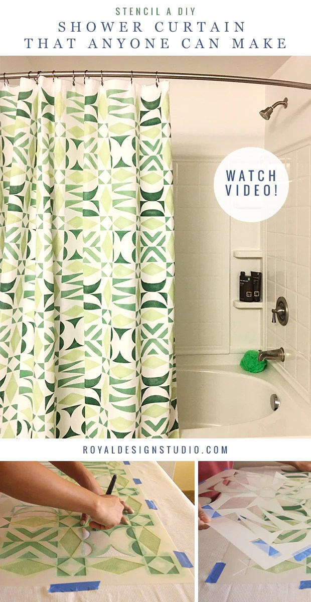 how to make a diy shower curtain with