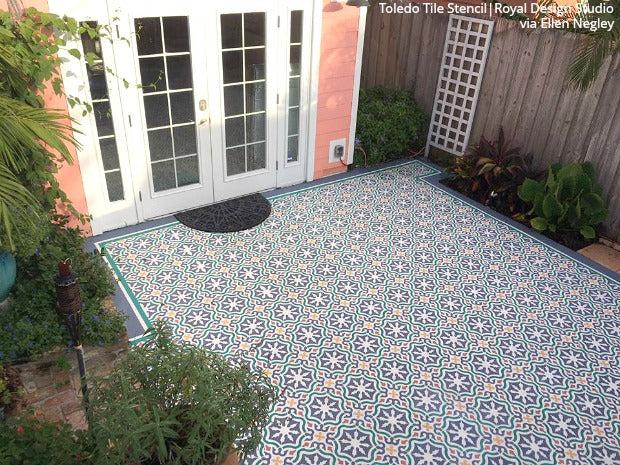 paint stencils tile stencils