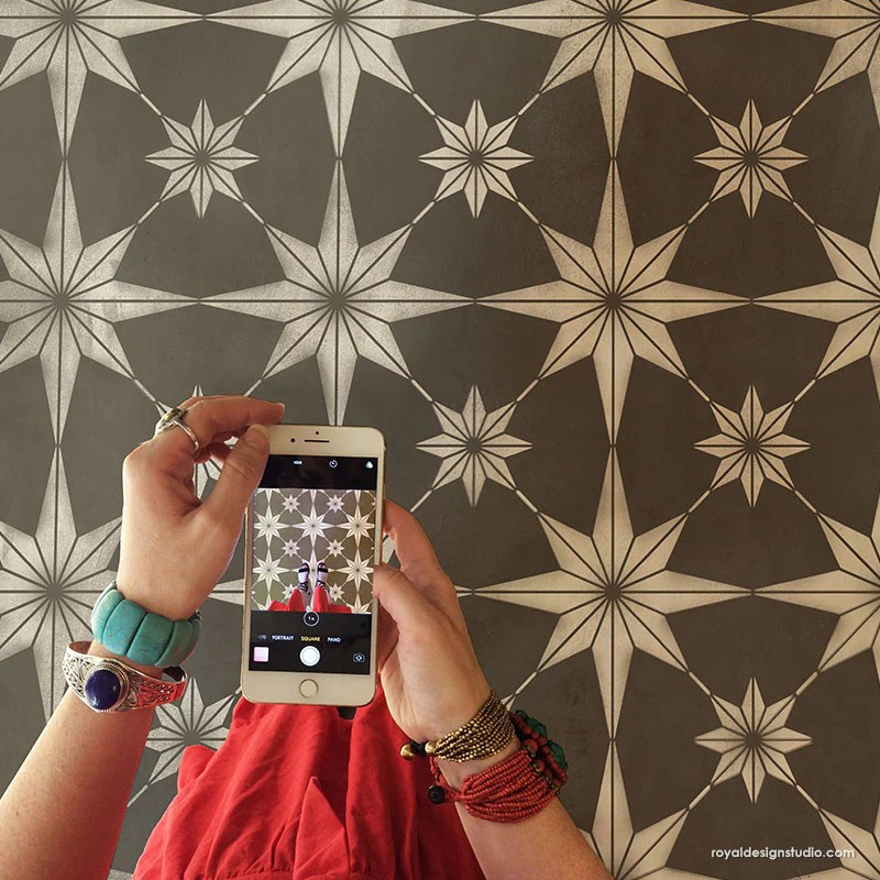 you re a star tile stencil