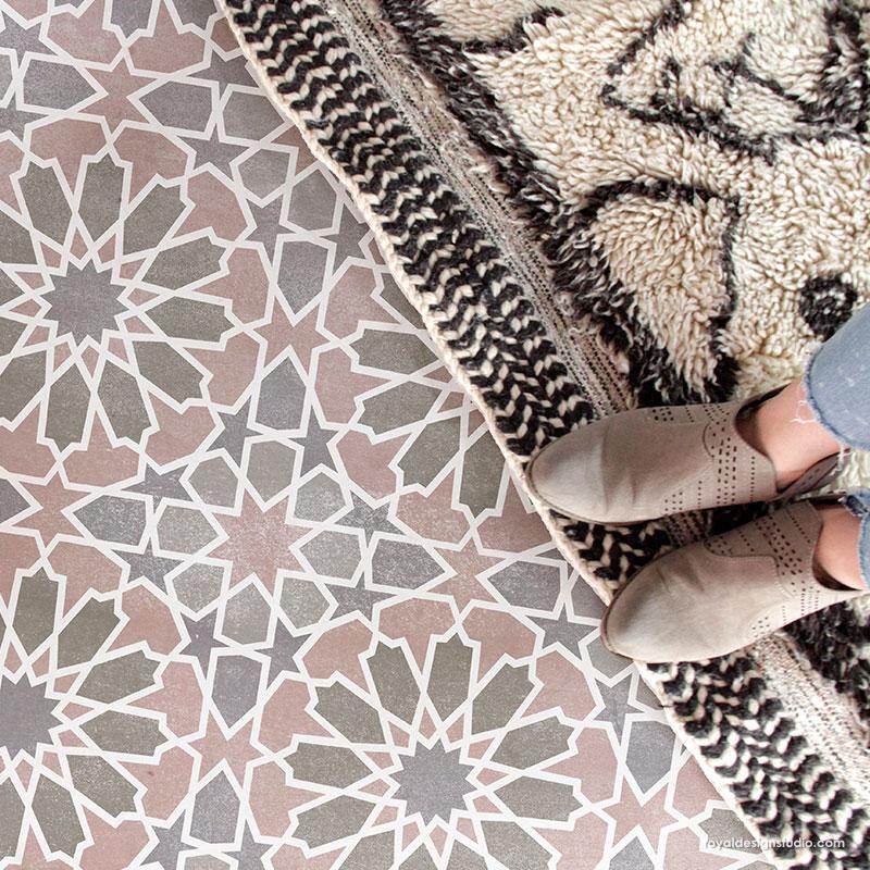 kasbah tile stencil