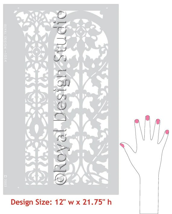 Border Stencils Carved Arch Classic Panel Royal Design