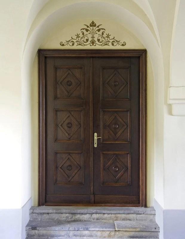 Stencils Renaissance Door Crown Classic Panel Royal
