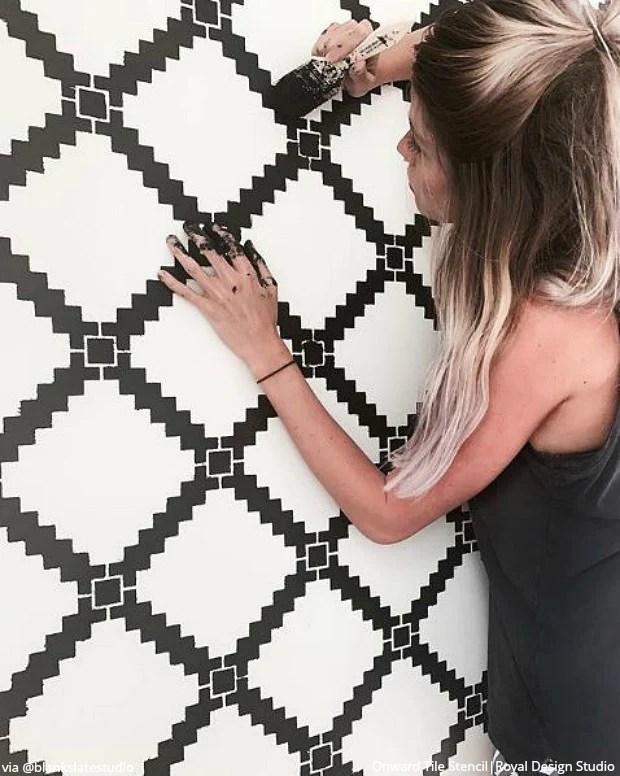 onward allover tile stencil