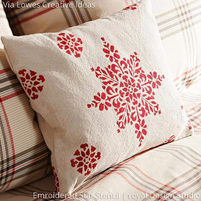 embroidered star moroccan christmas stencil