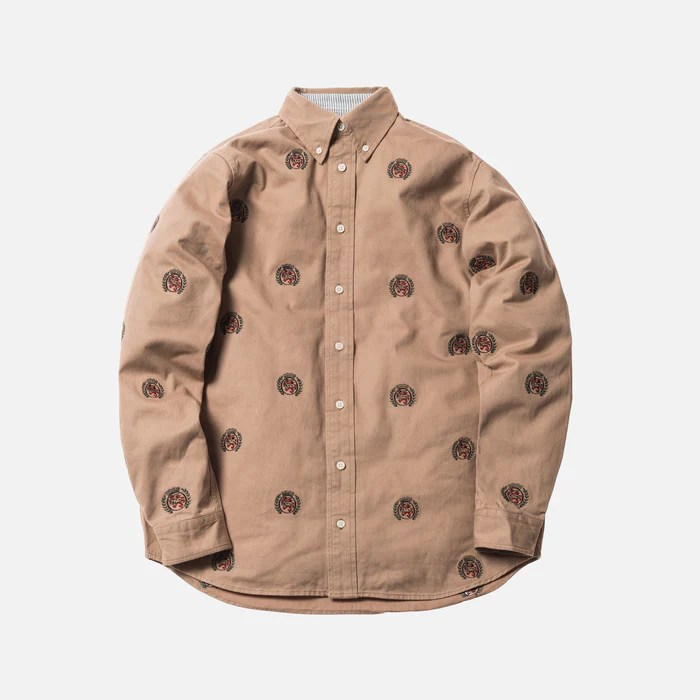 Kith x Tommy Hilfiger Collection Kith x Tommy Hilfiger Twill Crest Woven Shirt   Khaki