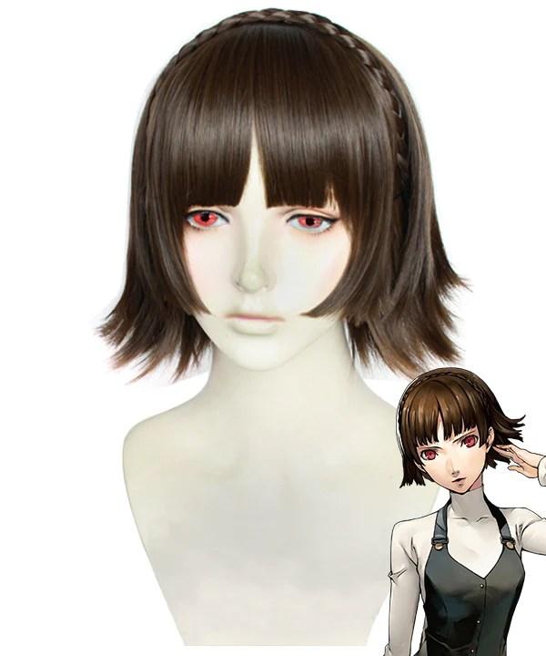 Persona 5 Makoto Niijima Brown Cosplay Wig