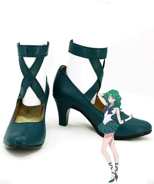 Sailor Moon Michiru Kaiou Deep Green Cosplay Shoes