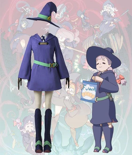 Little Witch Academia Jasminka Antonenko School Uniform Cosplay Costume