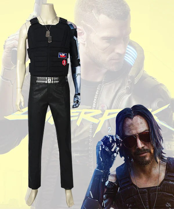 Cyberpunk 2077 Johnny Silverhand Keanu Reeves Cosplay Costume