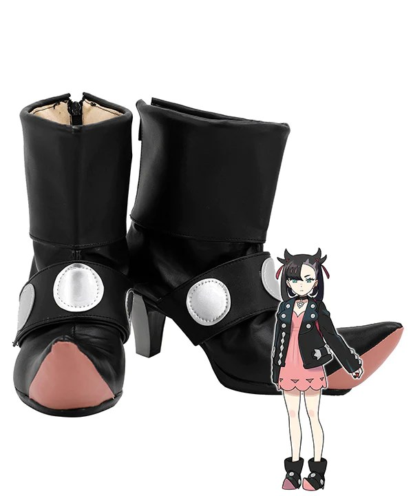 Pokemon Pok��mon Sword And Shield Marnie Black Cosplay Shoes