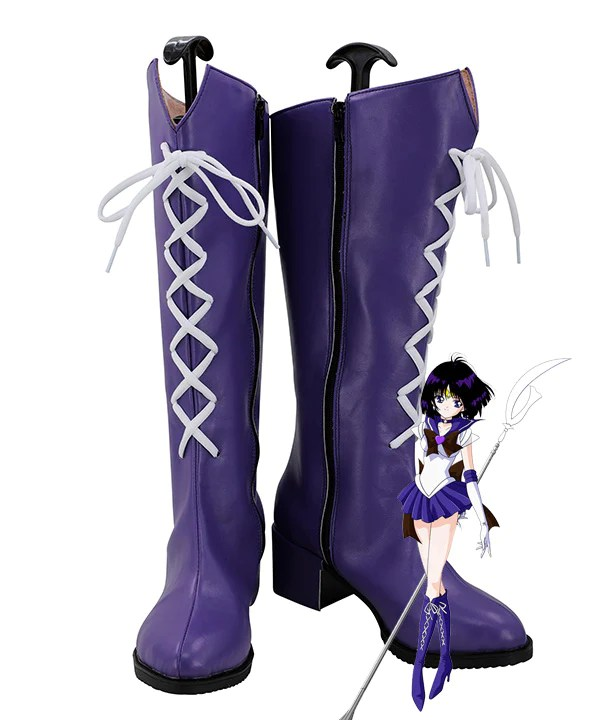 Sailor Moon Sailor Saturn Tomoe Hotaru Saturn Purple Shoes Cosplay Boots