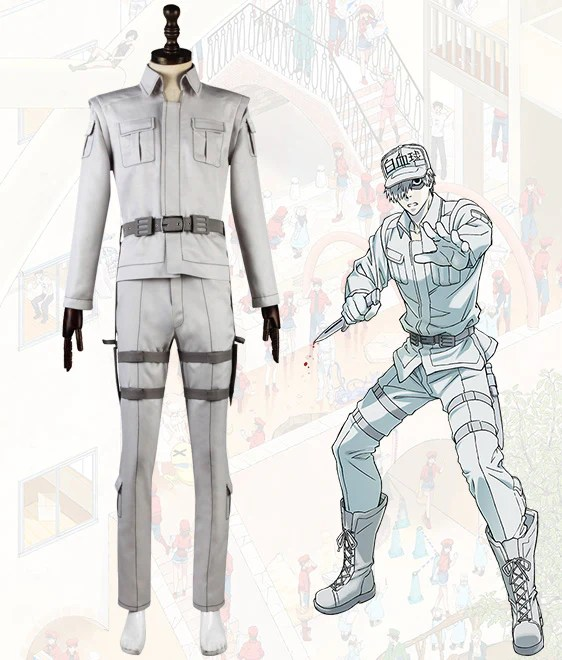 Cells At Work Neutrophil White Uniform Cosplay Costume