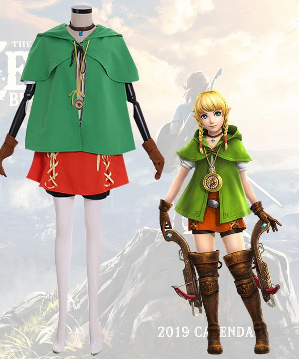 The Legend of Zelda: Breath of the Wild Linkle Cosplay Costume