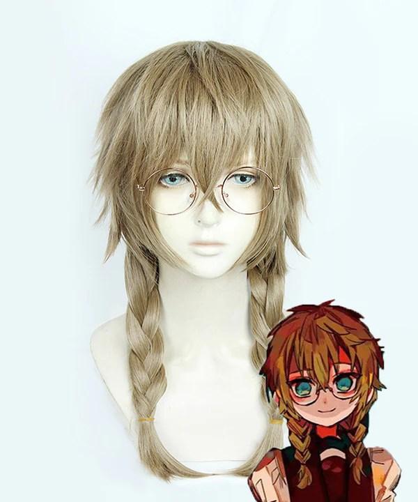 Jibaku Shounen Hanako-Kun Toilet-bound Hanako-kun Shijima Mei Brown Cosplay Wig