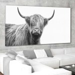 Scottish Highland Cow Canvas Set Wall Art L By Stunning Canvas Prints