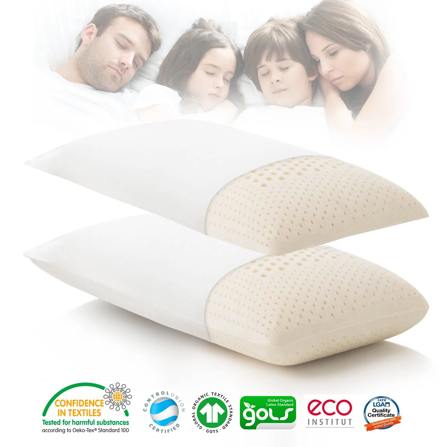 made in thailand zoned active 100 natural latex pillow