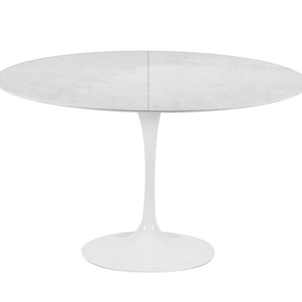 tulip round table extensible plateau en lamine