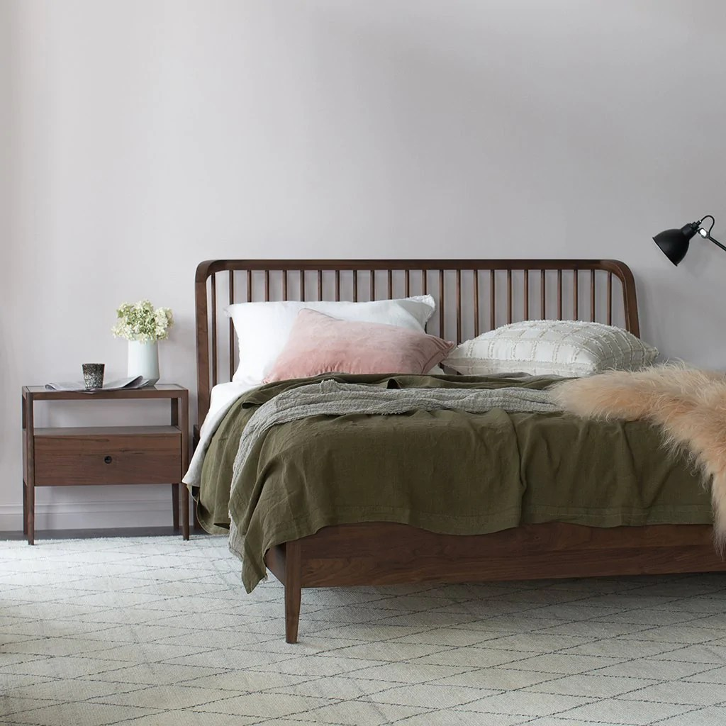 Ethnicraft Walnut Spindle Queen Bed Curious Grace