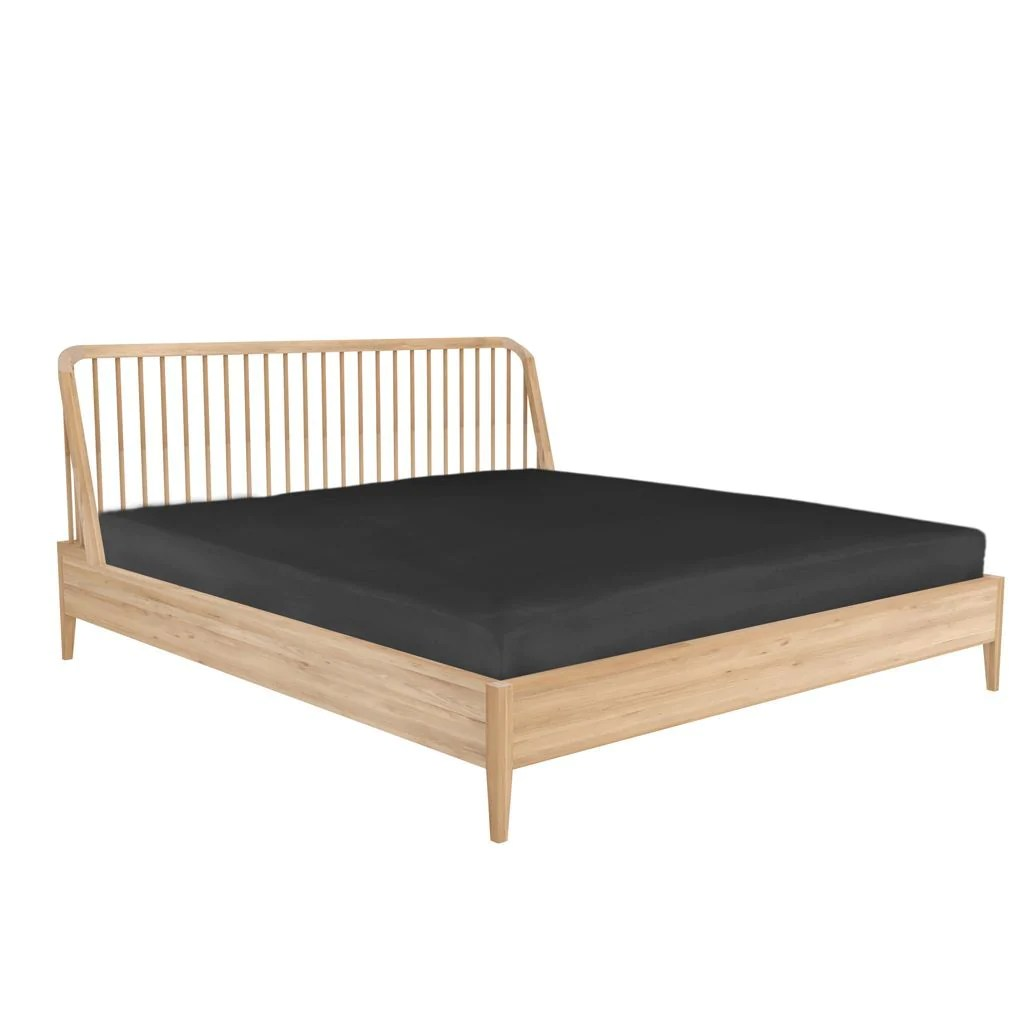 Ethnicraft Oak Spindle Queen Bed Curious Grace