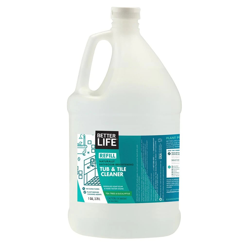 natural bathroom cleaner tub and tile cleaner gallon better life