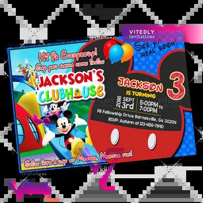 mickey mouse birthday invitations vitedly