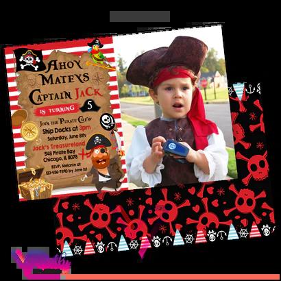 pirate birthday invitation pirate
