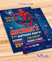 spiderman party invitations with free