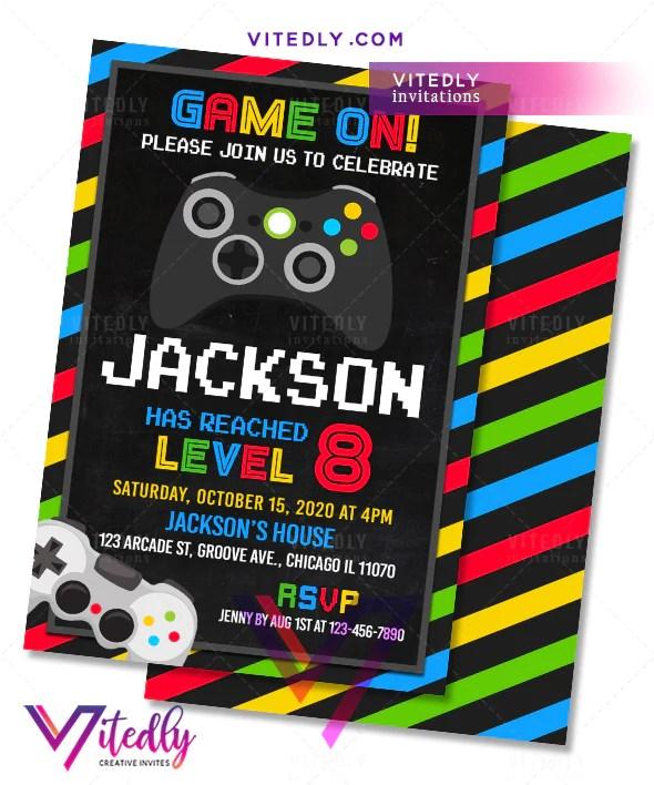 video game arcade invitation video game birthday party invitations