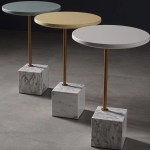 Minimalist Marble Cube Side Table Urban Mood