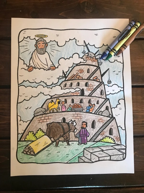 tower of babel coloring pages # 12