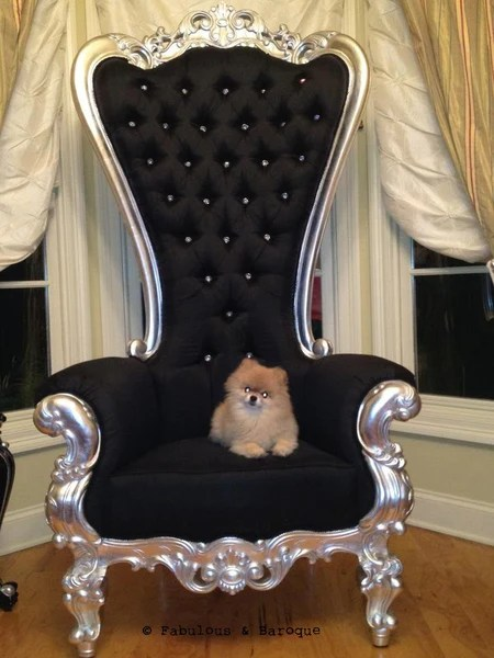 Gryphon Reine Chair Silver Leaf Client Photo