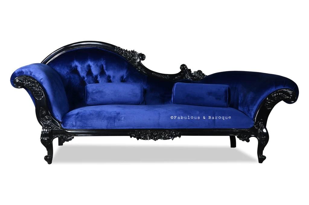queen anne s revenge chaise black sapphire blue