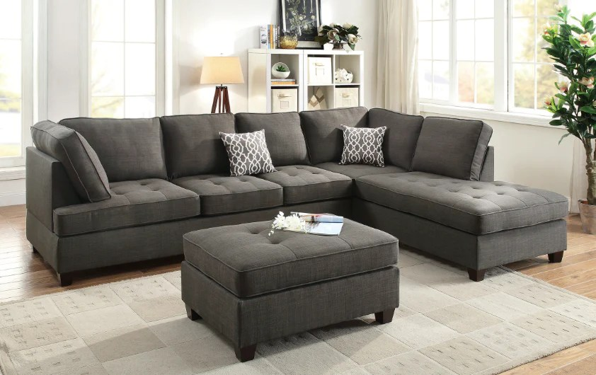 fabric sectional with chaise my budget furniture