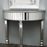 Mirrored Console Table Small Half Moon Interiors Invogue