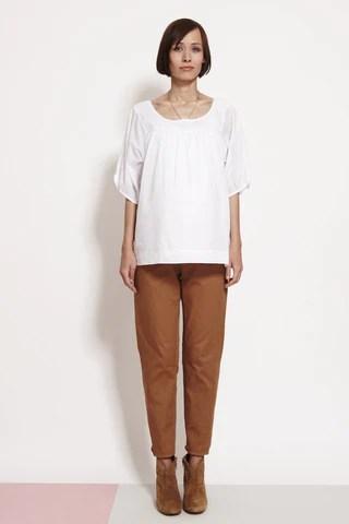 Pleat Front White Shirt