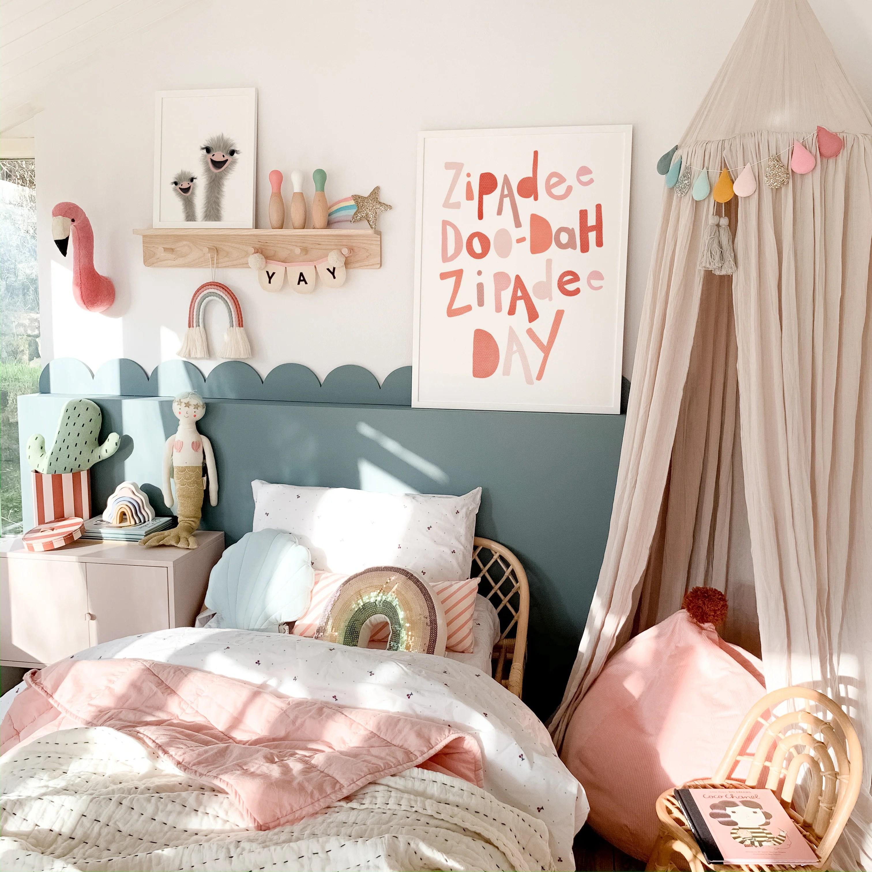 Stylish Girls Bedroom Decor Ideas Pretty In Print Art Ltd