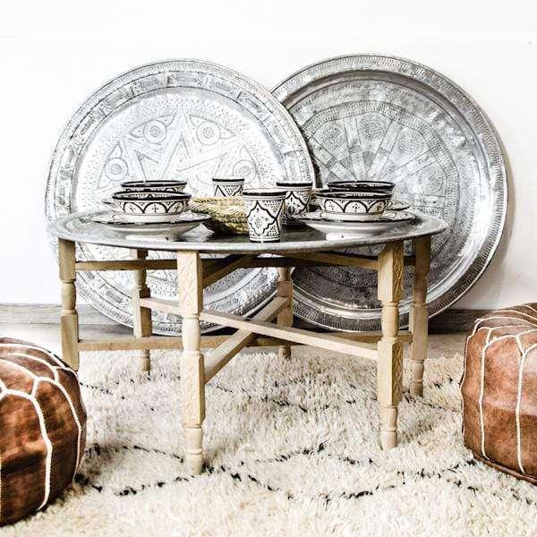 moroccan vintage tray 95cm