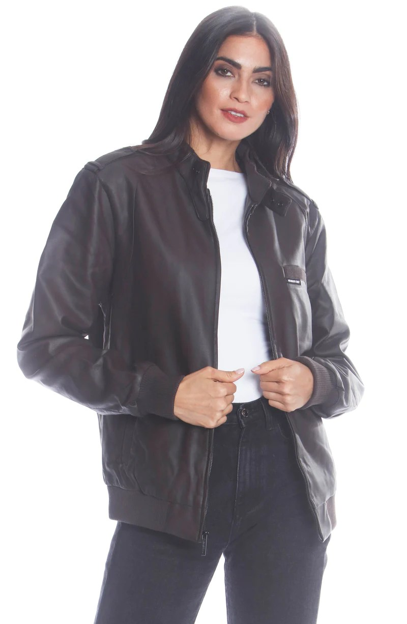 men s faux leather iconic racer jacket for women