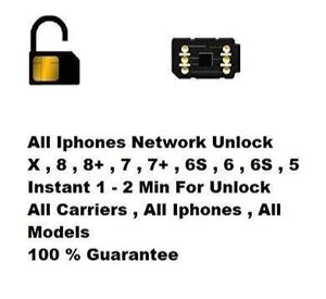 2020 iPhone Instant Unlock SIM for iPhone 5/5s/6/6s/6+/7/7+/8/8+/X